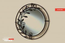 Ferforje Demir Çiçek Desenli Ayna