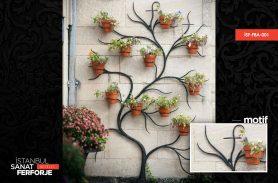 Garden Wall Wrought Iron Flower Pot