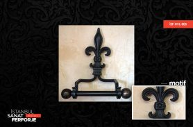 Wrought Iron Engraved Towel Holder