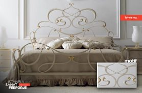 Wrought Iron White Double Bed