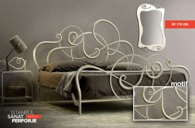 Wrought Iron Cream Bed