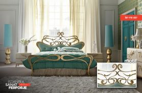 Wrought Iron Gilded Iron Bed