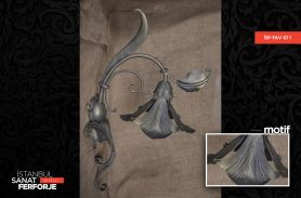 Wrought Iron Flower Chandelier