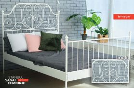 Wrought Iron White Bed