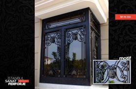 Ferforje Siyah İşleme Ferforje Giriş Kapısı
