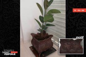 Copper Flowerpot Design Wrought Iron Accessories