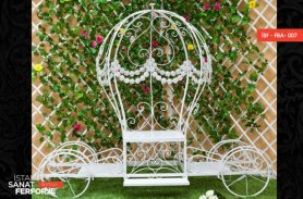 White Balloon Wrought Iron Garden Accessory