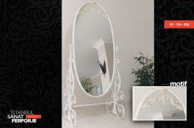 White Design Wrought Iron Height Mirror