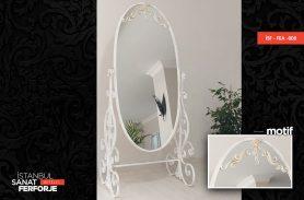Beyaz Tasarım Ferforje Boy Aynası
