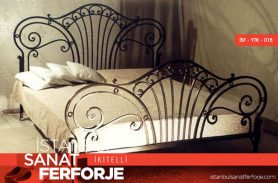 Wrought Iron Embroidered Bed