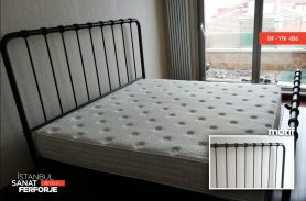Wrought iron bed design with model number İSF-YTK-026 in modern lines