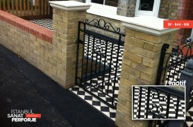 Straight Parallel Structure Wrought Iron Garden Gate