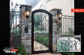 Single Wing Wrought Iron Garden Gate