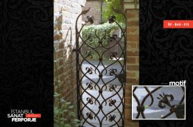 2020 Wrought Iron Garden Gate With Leaf Pattern
