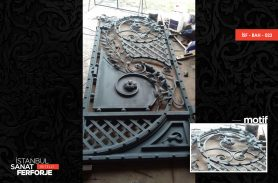 Leaf Pattern Wrought Iron Garden Gate