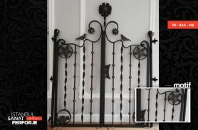 Mixed Detail, Wrought Iron Garden Gate