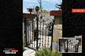 Black, Floral Pattern Garden Gate