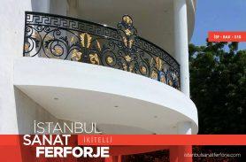 Altın Renkli Villa Ferforje Balkon Korkuluğu
