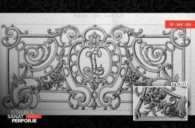 Harf Desenli Ferforje Balkon Korkuluğu