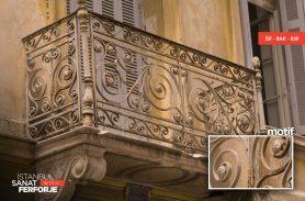 Çiçek Desenli Dövme Demir Ferforje Balkon Korkuluğu