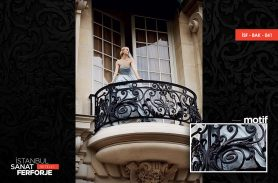 Demir Dövme Ferforje Balkon Korkuluğu
