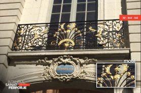 Altın İşleme Ferforje Balkon Korkuluğu