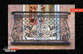 Izgara Desenli Ferforje Balkon Korkuluğu