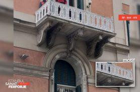 Beyaz Döküm Ferforje Balkon Korkuluğu