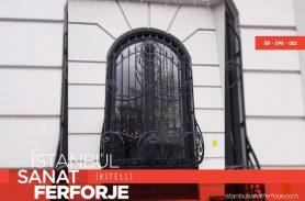 Spear Detail Wrought Iron Window Railing