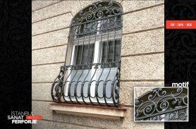 Black, Modern, Wrought Iron Window Railing