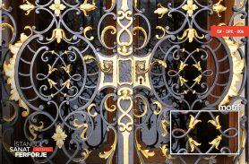 Gold Processing Wrought Iron Window Railing
