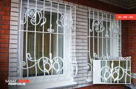White, Parallel Structure, Wrought Iron Window Railing
