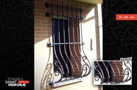 Elegant Wrought Iron Window Railing