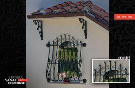 Water Green, Spear Pattern, Wrought Iron Window Railing