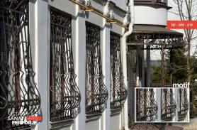 Modern Wrought Iron Window Railing
