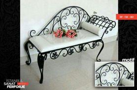 White Wrought Iron Josefin Armchair