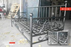 Black Wrought Iron Armchair
