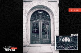 Classic Palace Wrought Iron Door