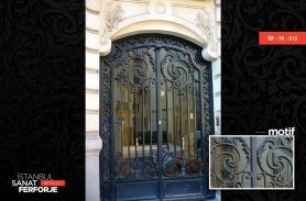 Black, Classic Wrought Iron Door