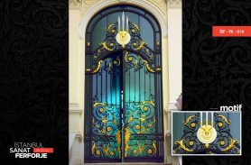 Baroque, Embroidered Gold Wrought Iron Door