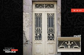 Classic, White Wrought Iron Door