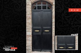 Double Door, Simple Wrought Iron Door