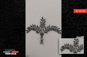 Wrought Iron Tree Leaves Accessory