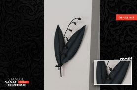 Wrought Iron Leaf Accessory