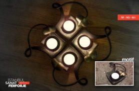 Wrought Iron 4-Candle Holder Accessories