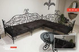 Modern Wrought Iron Sofa Set