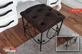 Modern Wrought Iron Pouf