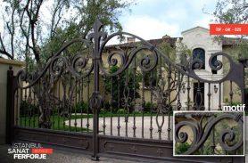 Kahverengi, Villa Tipi Ferforje Garaj Kapısı