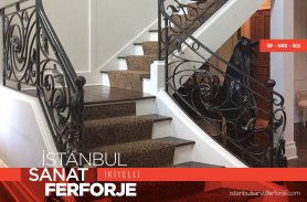 Classic Wrought Iron Stair Railing