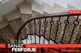 Ahşap Tutmalı, Paralel Yapılı, villa Ferforje Merdiven Korkuluğu